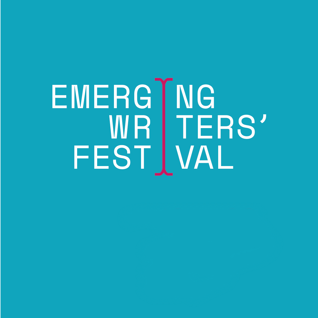 A tile with the Emerging Writers' Festival logo